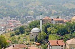 A vista ao castelo no Travnik Fotografia de Stock