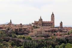 Vista ao centro de Segovia, Espanha Imagens de Stock Royalty Free