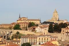 Vista ao centro de Segovia, Espanha Foto de Stock Royalty Free