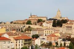 Vista ao centro de Segovia, Espanha Fotografia de Stock Royalty Free