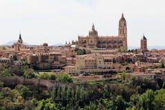 Vista ao centro de Segovia, Espanha fotografia de stock