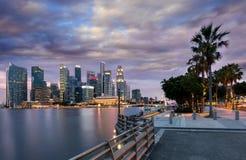 Vista ao distrito financeiro de Singapura Imagens de Stock