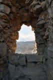 Vista ao formulário Masada do deserto do Negev Foto de Stock