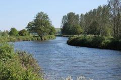 Vista ao longo do canal de Exeter Fotografia de Stock