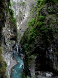 Vista ao longo do desfiladeiro de Taroko Imagem de Stock