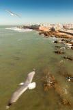 Vista ao medina de Essaouira Foto de Stock