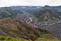 Vista ao Myrdalsjoekull e ao vulcão Katla Fotografia de Stock Royalty Free