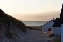 Vista ao Northsea das dunas em Stenbjerg, Dinamarca Imagens de Stock