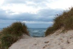 Vista ao Northsea das dunas no Thy, Dinamarca Imagens de Stock