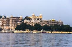 Vista ao palácio da cidade em Udaipur Foto de Stock Royalty Free