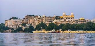 Vista ao palácio da cidade em Udaipur Fotografia de Stock