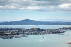 vista ao porto Nova Zelândia de Auckland imagem de stock royalty free