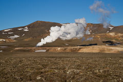 Vista ao vulcão Krafla Fotos de Stock