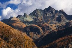 Vista aos alpes Fotografia de Stock Royalty Free