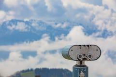 Vista aos cumes suíços de Rigi Kulm Fotografia de Stock