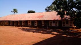 Vista aos palácios reais de Abomey, Benin fotos de stock