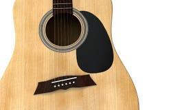 Vista aperta vicina della chitarra acustica Fotografie Stock