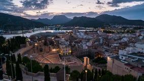 Vista aérea de Cartagena video estoque