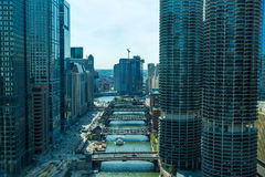 Vista aérea de Chicago do centro em Illinois, EUA Fotos de Stock Royalty Free