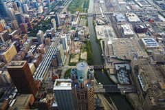 Vista aérea de Chicago, Illinois Fotos de Stock