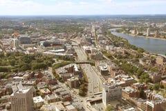 Vista aérea de la ciudad de Boston Foto de archivo libre de regalías