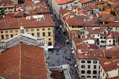 Vista aérea de la ciudad Firenze (Florencia) Imagen de archivo libre de regalías
