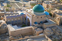Vista aérea de la ciudad vieja en Khiva, Uzbekistán Foto de archivo