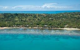 Vista aérea de la isla de Sainte Marie, Madagascar Imagenes de archivo