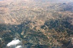 Vista aérea de las montañas de Líbano Fotografía de archivo libre de regalías