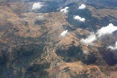 Vista aérea de las montañas de Líbano Imagen de archivo