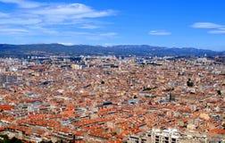 Vista aérea de Marsella Imagen de archivo