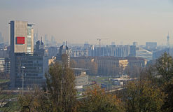 Vista aérea de Milão do monte no parco Fotografia de Stock Royalty Free