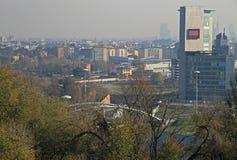 Vista aérea de Milão do monte no parco Foto de Stock