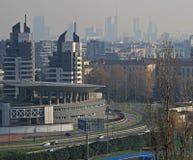 Vista aérea de Milão do monte no parco Imagens de Stock