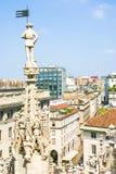 Vista aérea de Milão, Itália Fotografia de Stock