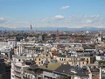 Vista aérea de Milão, Itália Imagens de Stock