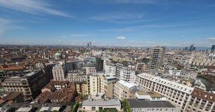 Vista aérea de Milão, Itália Imagem de Stock