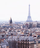 Vista aérea de Paris com torre Eiffel Fotos de Stock Royalty Free