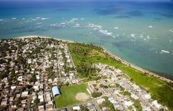 Vista aérea de Puerto Rico de nordeste Imagen de archivo libre de regalías