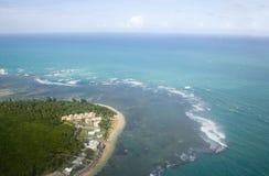 Vista aérea de Puerto Rico de nordeste Fotografía de archivo