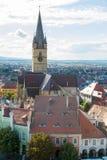 Vista aérea de Sibiu Imágenes de archivo libres de regalías