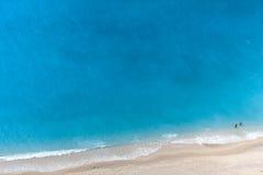 Vista aérea de una playa Imagen de archivo libre de regalías