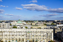 Vista aérea de Varsovia Imagen de archivo