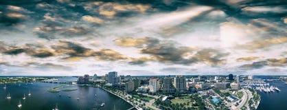 Vista aérea de West Palm Beach, la Florida Imágenes de archivo libres de regalías