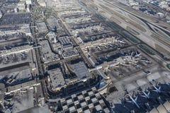 Vista aérea del aeropuerto internacional de Los Ángeles Imagen de archivo