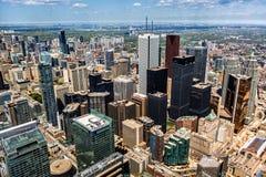 Vista aérea del horizonte de Toronto Imágenes de archivo libres de regalías