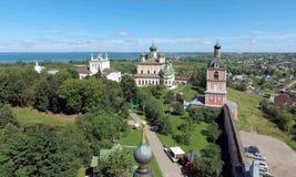 Vista aérea del monasterio de Goritsky de Dormition en Pereslavl-Zale Imágenes de archivo libres de regalías
