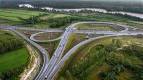 Vista aérea del paso superior, Ringway, foto aérea Imágenes de archivo libres de regalías