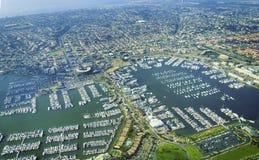 Vista aérea del punto Loma San Diego Imagen de archivo
