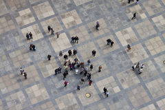 Vista aérea del tercer patio del castillo de Praga Fotografía de archivo libre de regalías